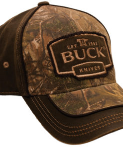 BUCK CAP CAMO/SUEDE BROWN